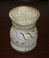 "Soap Stone Oil Burner 4"" Round S 8157 Colors Assorted"