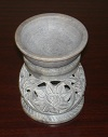 "Soap Stone Oil Burner 4"" Round S 8156 Assorted Colors"