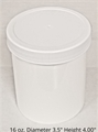 Polypropylene Jars w/white lids - 16 oz.