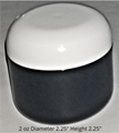 Double Wall Black Polypropylene Jars w/white Dome Lid - 2 oz.