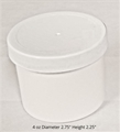 Polypropylene Jars w/white lids - 4 oz.