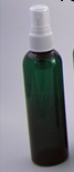 Cosmo 4 oz. Green PET Bottle w/White Fine Mist Pump