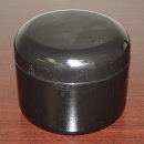Double Wall Black Polypropylene Jars w/Black Dome Lid - 8 oz.