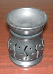 "Black Stone Oil Burner 3.5"" Round SI 7002 Assorted Designs"