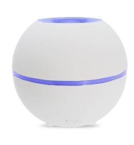White Vesuvia Ultrasonic Essential Oil Diffuser, LED Lights, 10hr run time
