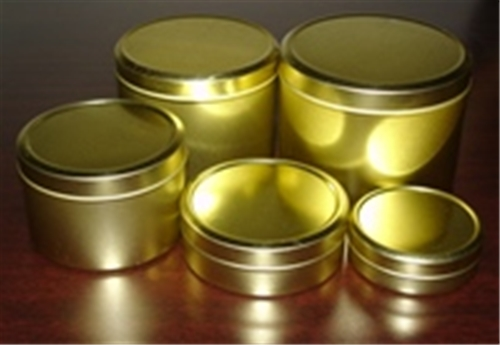 One Ounce Metal Tin Gold